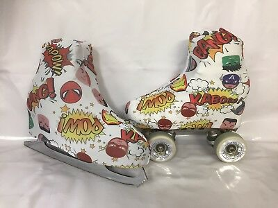 Super Hero Kapow!!!  Boot Covers for RollerSkates and Ice Skates  S,M,L