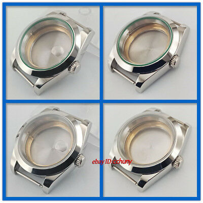 40mm Silver Watch Case Fit ETA 2836,Miyota 8215,Mingzhu DG 2813/3804 Movement