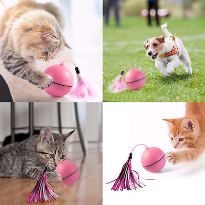 Funny Cat Dog Pet LED Light Laser Ball Teaser Exercise Automatic Interactive Toy