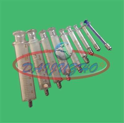 From 1ml to 100ml Glass Syringe Luer Lock Head Reusable Glass Injector Syringe
