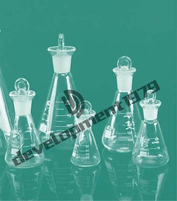 Glass Erlenmeyer Flask Conical Bottle Lab Chemistry Glassware 50/100/150/250ML