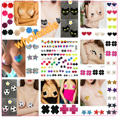 1 Pairs Pentagram Adhesive Nipple Covers Pads Body Breasts Stickers Disposable