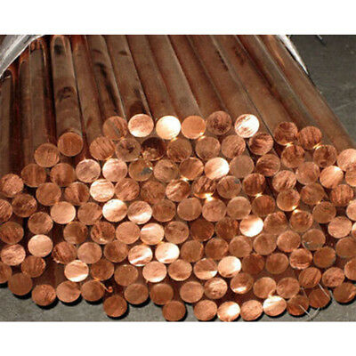 12mm C110 COPPER ROUND ROD 100mm long H04 Solid CU New Lathe Bar Stock 12mm OD