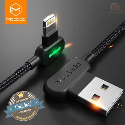 Genuine MCDODO Cable USB Cable Fast Charging  For iPhone Apple X 8 Plus 7 6 5