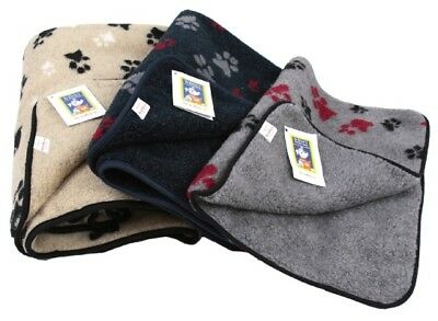 Animate Pet Dog Cat Blanket. Sherpa Fleece fur, warm, cosy S/M/L. Various Patter