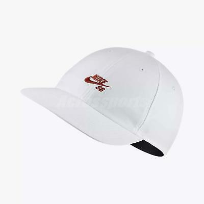 Nike SB Heritage 86 Adjustable Hat H86 Cap Skateboarding Sports White  926686-100 3037860937d4