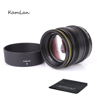 Kamlan 50mm F1.1 APS-C Manual Focus Lens For Sony E-Mount NEX3 5 6 7 A5000 A6100