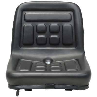 Universal Water-resistant Tractor Seat Strong Steel Frame With Backrest Black