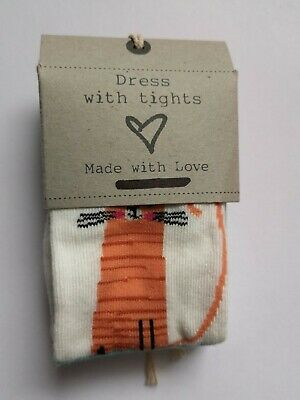 New Baby Girls Tights Patterned Cat Ex N*XT Age 3-6 Months