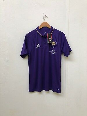 adidas Men's Orlando City SC Home Polo Shirt - Large - No Name - Purple - New