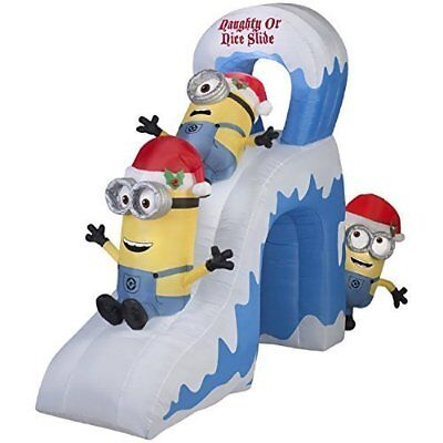 christmas inflatable minions airblown decorations indoor outdoor santa yard lawn - Minions Christmas Decorations