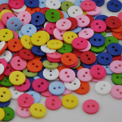 50/100pcs Plastic Buttons/craft/Sewing 2 holes Kid's DIY access lots PT93