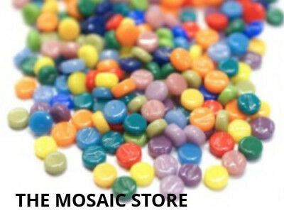Mixed Glass Dots - Small Round Circle Tiles Art Craft Supplies