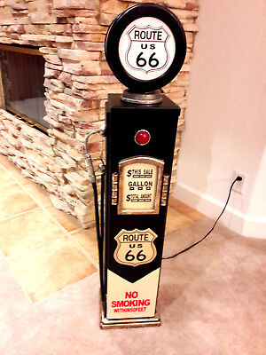 "42"" Route US 66 Gas Pump Cabinet with light. Mancave/Gameroom."