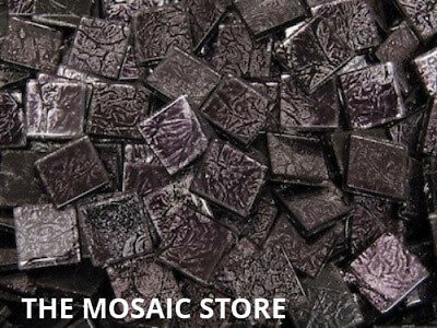 Black Silverfoil Glass Tiles 2 cm - Mosaic Art Craft Tiles Supplies