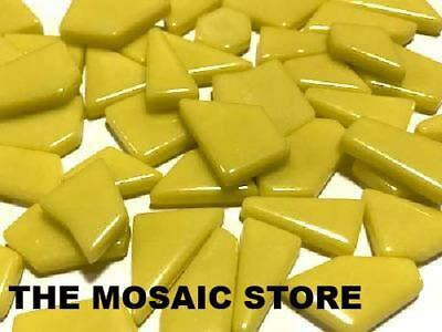 Yellow Irregular Gloss Glass Tiles | Mosaic Art Craft Supplies Tiles