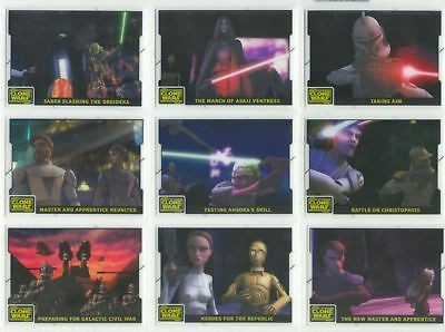 Star Wars - Clone Wars - Animation Cell - Complete 10 Card Chase Set - NM