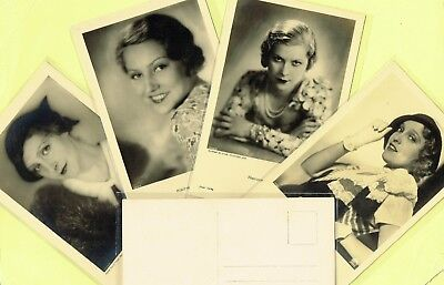 ROSS VERLAG - 1930s Film Star Postcards produced in Germany #7434 to #7570