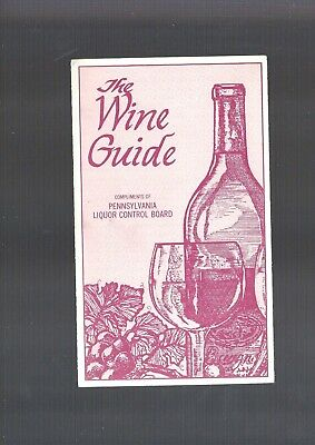 Vintage Collectible 1984 State of Pennsylvania THE WINE GUIDE booklet