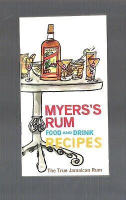 Vintage Collectible MYER'S Jamaican Rum Food & Drink Recipes Booklet