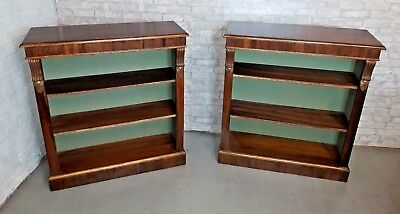 Regency Style Pair of Dwarf Bookcases