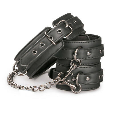 Easytoys Fetish Collection - Bondage - Kunstleren halsband met handboeien