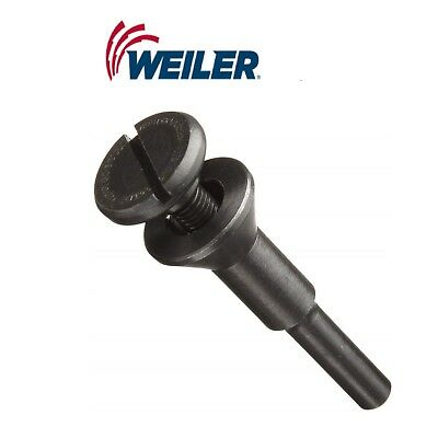 "Weiler 56490 Mandrel For 1/4"" Diameter Shank, 3/8"" 9.5 mm hole size"
