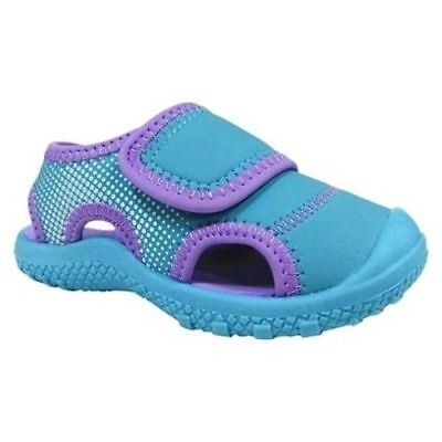 5c656152842 Cat   Jack Toddler Girls Turquoise Purple Water Shoes Fisherman Sandals -  NWT