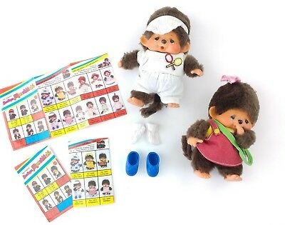 Original Monchhichi Girl Doll Boy Doll With Two Outfits