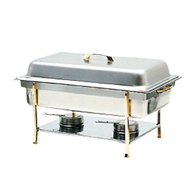Thunder Group SLRCF0840 8 Qt Full Size Stainless Steel Chafer w/ Brass Trim