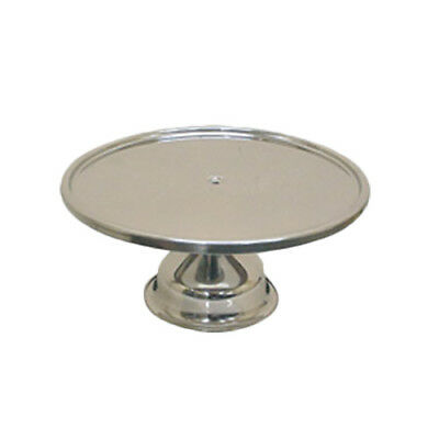 """Thunder Group SLCS001 13-1/4"""" Mirror Finish Stainless Steel Cake Stand"""