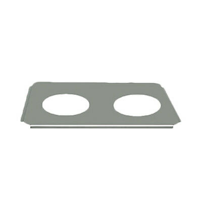 Thunder Group Stainless Steel 2 Opening Adapter Plates for Round Inserts
