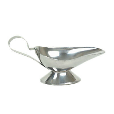 Thunder Group SLGB008 8 oz Stainless Steel Gravy Boat w/ Tapered Spout