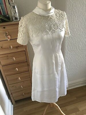 Vintage 1960s Wedding Dress Size 10