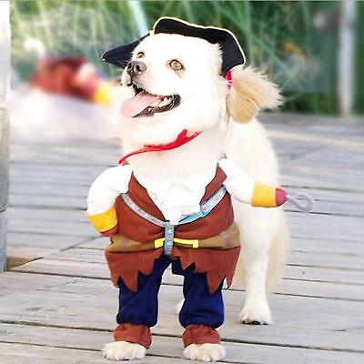 Dog Rompers Halloween Pirate Cool Cute Cat Dog Pet Cosplay Costume Clothing SH
