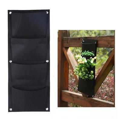Wall Hanging Plant Bags Vertical Garden Planter Outdoor Planting 4 Pocket Pot MA