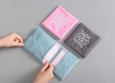Sanitary Pad Napkins Pouch Towel Embroidery Small Article Bag Nursing Liner
