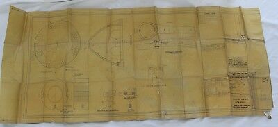 1944 Bureau of Ships Blueprints 100Ft Harbor Tugs Propeller Hub Cap Nut & Wrench