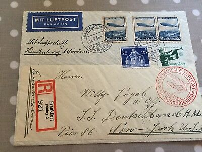 Germany Reich excellent Zeppelin Cover to Pier 86 New York 17.6.1936