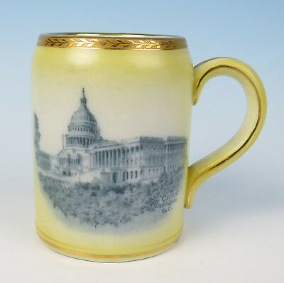Antique Ridgways Washington DC Transferware Tankard White House Souvenir Stein