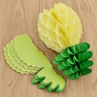 Tropical Pineapple Honeycomb Ball Party Decoration Favor Handmade Craft Supplies