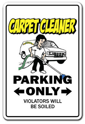 CARPET CLEANER Sign parking cleaning steam shampooer rug| Indoor/Outdoor | 20""
