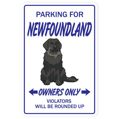 "NEWFOUNDLAND Sign dog pet signs vet kennel groomer | Indoor/Outdoor | 12"" Tall"
