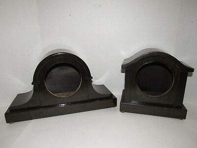 Antique Lot Of Two Seth Thomas Adamantine Style Mantel Clock Cases