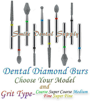 Dental Diamond Burs - Various Models and Grit Types - 10 pieces /pk by DEFEND