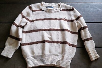 Boys Ralph Lauren Sweater Toddler Sz 2T Khaki Brown Nice!