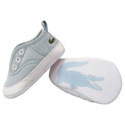 558dbd661b9ae5 LACOSTE RENE CRIB Pique Baby Shoes Lt Blue Brand New In Box Sizes 0 ...