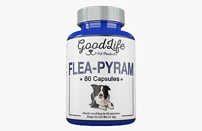 12 CAPSULES Flea Killer DOGS 25- 125 Lbs. 57 mg Starts Working Quick!