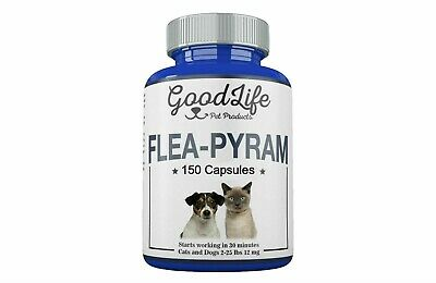 12 CAPSULES GoodLife Flea Killer For CATS and DOGS 2-25 Lbs. 12 Mg
