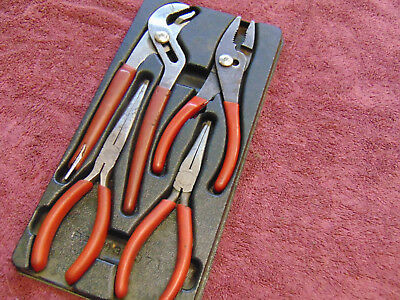 Snap On PL400B Pliers Set 4 pc 90BP 47CP 96BCP needle nose Red